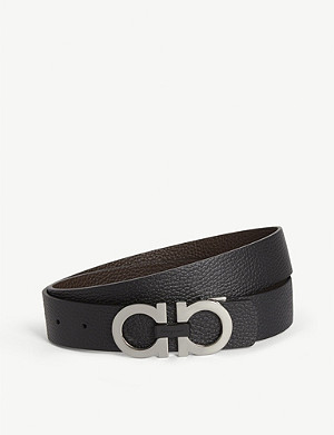 SALVATORE FERRAGAMO Gancini reversible leather belt