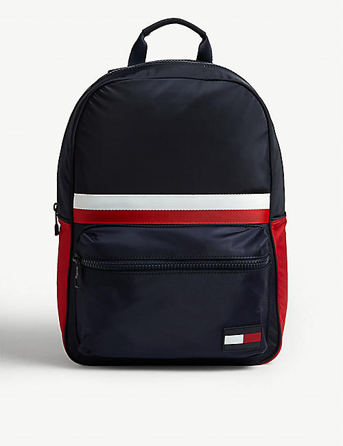TOMMY HILFIGER Logo tab nylon backpack