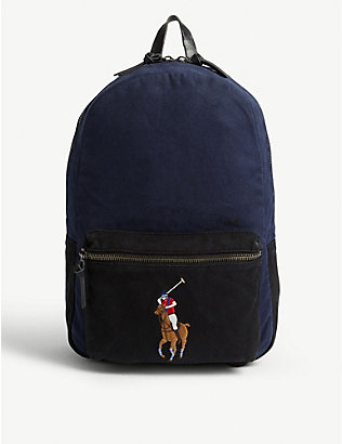 POLO RALPH LAUREN: Polo logo canvas backpack
