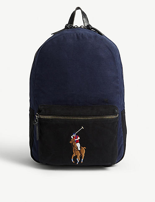 POLO RALPH LAUREN Polo logo canvas backpack