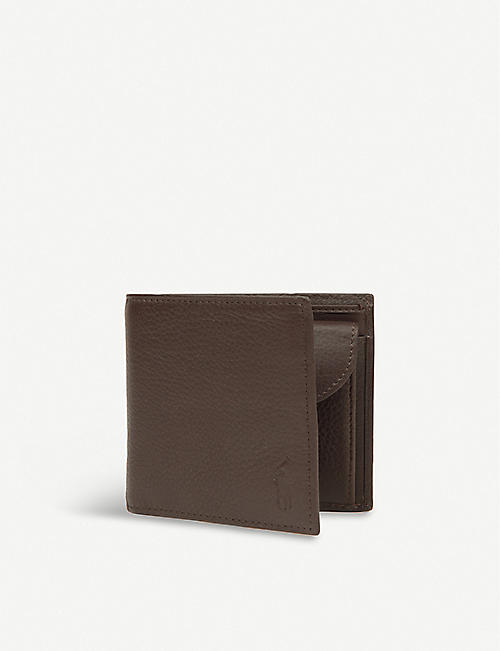 POLO RALPH LAUREN: Pebbled leather wallet