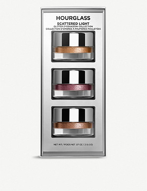HOURGLASS Scattered Light mini glitter eyeshadows set of three
