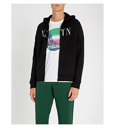 82449da64aeb VALENTINO - Logo-print cotton-blend hoody