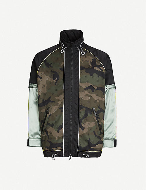 d863724ceab9 VALENTINO Camouflage-print cotton and satin jacket