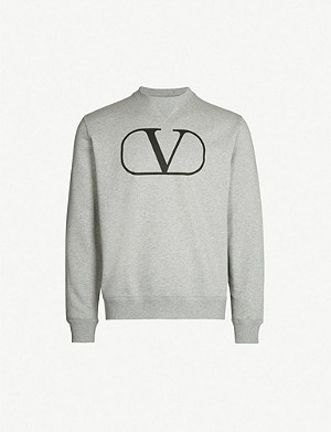 VALENTINO Logo-print cotton-blend sweatshirt