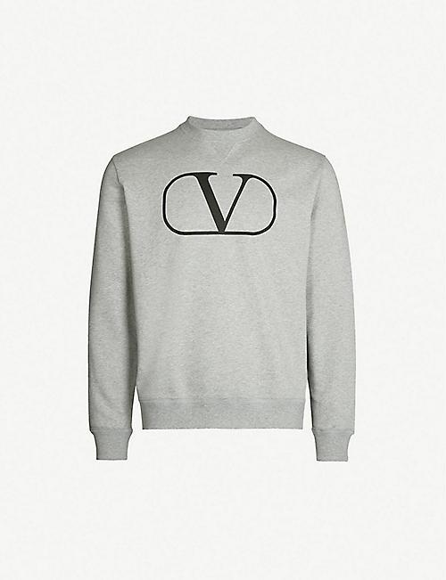 55ff665d7 VALENTINO Logo-print cotton-blend sweatshirt