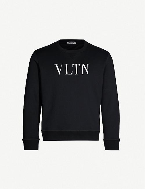 99b9df6f1e VALENTINO Logo-print cotton-blend sweatshirt