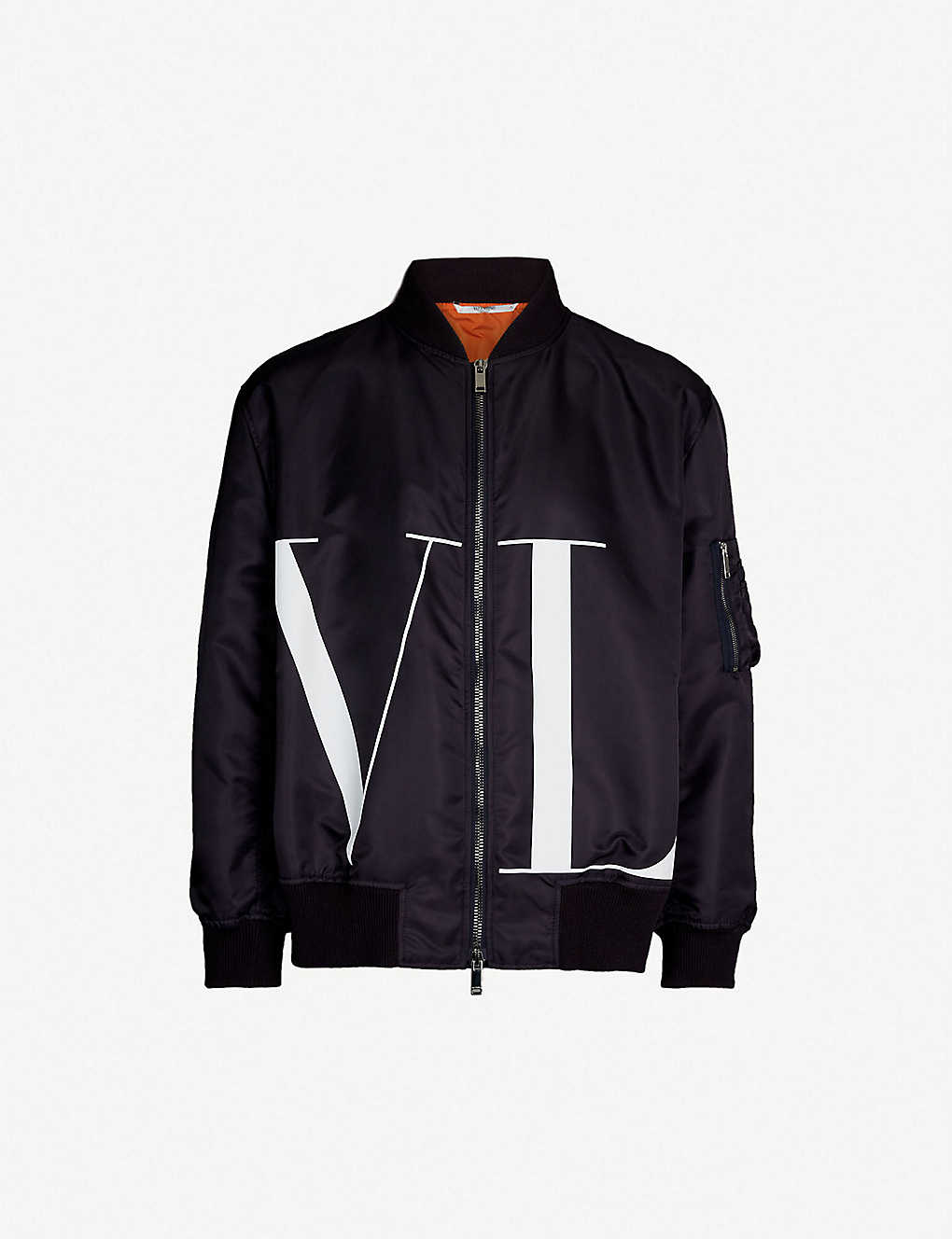 d72969417 VALENTINO - VLTN-print bomber jacket | Selfridges.com