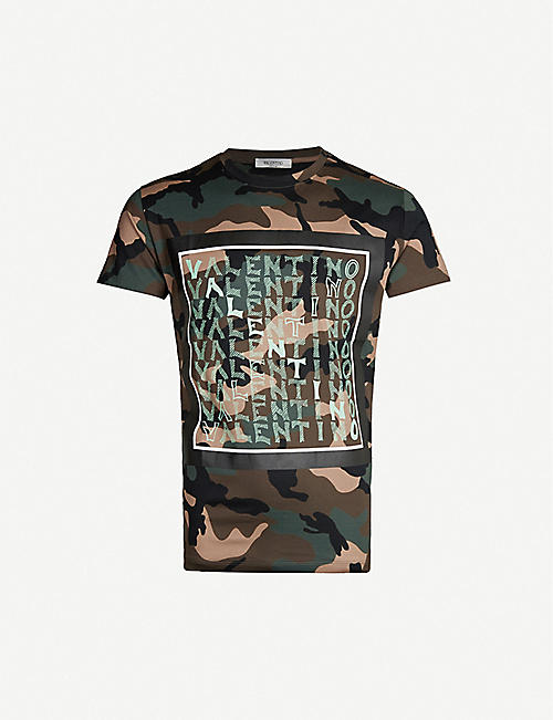 3786a48a69408 VALENTINO Camouflage-print cotton-jersey T-shirt