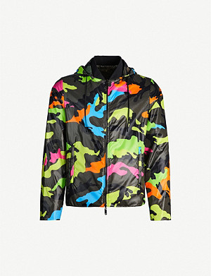 VALENTINO Reversible camouflage-print shell hooded jacket