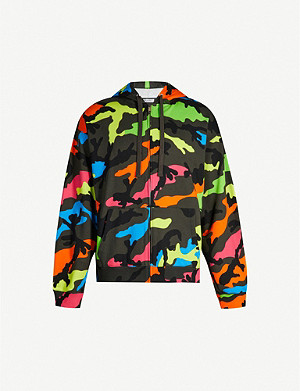 VALENTINO Camouflage-print cotton-blend hoody