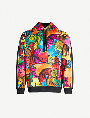 VALENTINO Multi-coloured tiger-print shell hoody