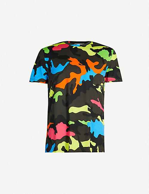 cbcc6543 VALENTINO Camouflage-print cotton-jersey T-shirt