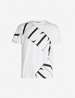 VALENTINO Graphic logo-print cotton T-shirt