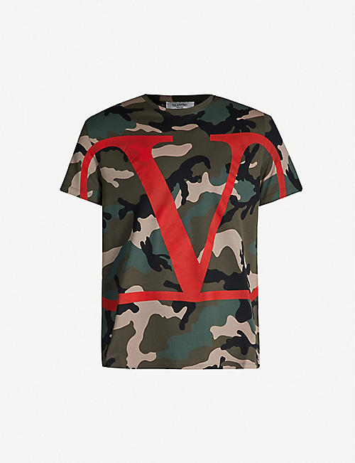48446a5b VALENTINO Logo-print camouflage cotton T-shirt