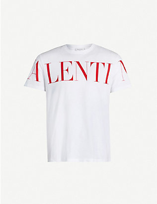 VALENTINO: Graphic logo-print cotton T-shirt
