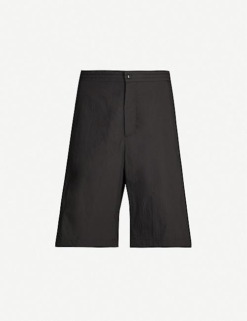 3b04fa361f VALENTINO Logo-print side-stripe cotton-blend shorts
