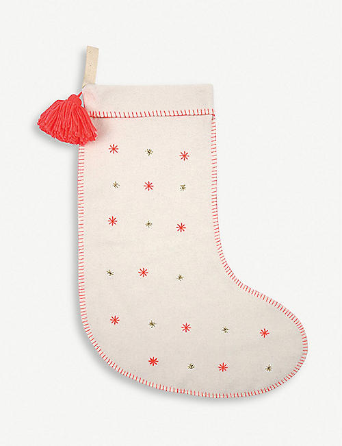MERI MERI Star-embroidered felt stocking