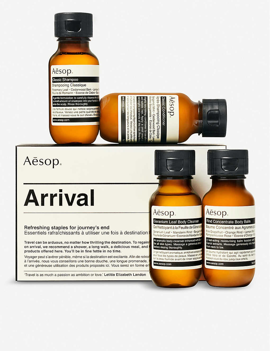AESOP: Arrival travel set