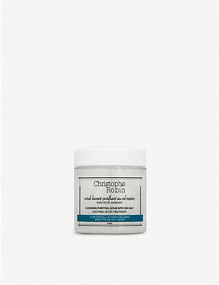 CHRISTOPHE ROBIN: Cleansing Purifying Scrub with Sea Salt 75ml