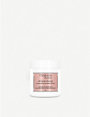 CHRISTOPHE ROBIN: Cleansing Volumising Paste with Pure Rassoul Clay and Rose Extracts 75ml