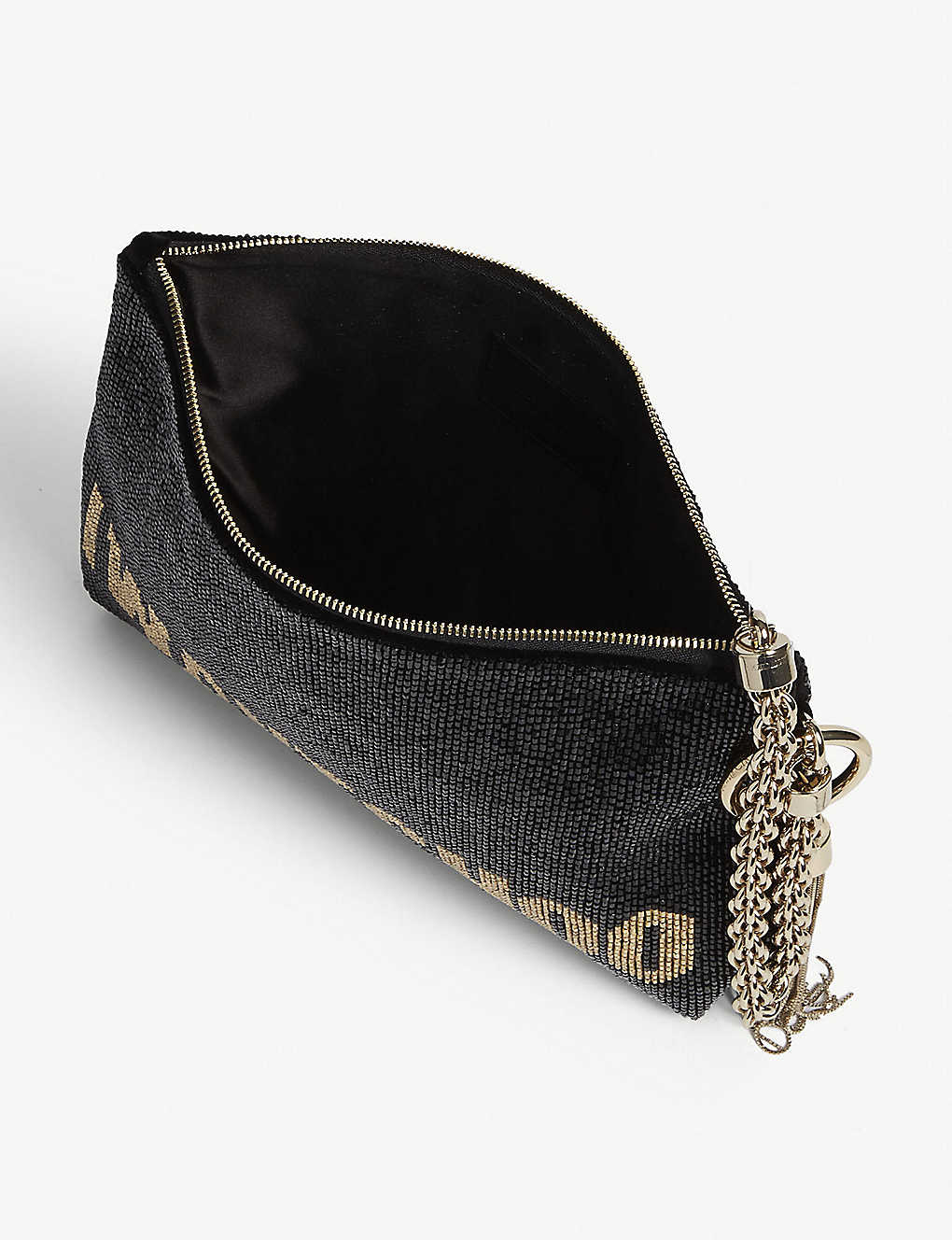 75dd709962 JIMMY CHOO - Callie I WANT CHOO beaded clutch bag | Selfridges.com