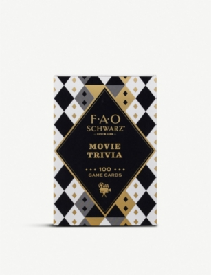 FAO SCHWARZ Movie trivia card game