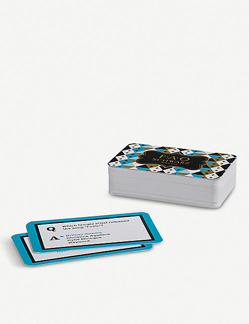 FAO SCHWARZ Matchbox music trivia card set