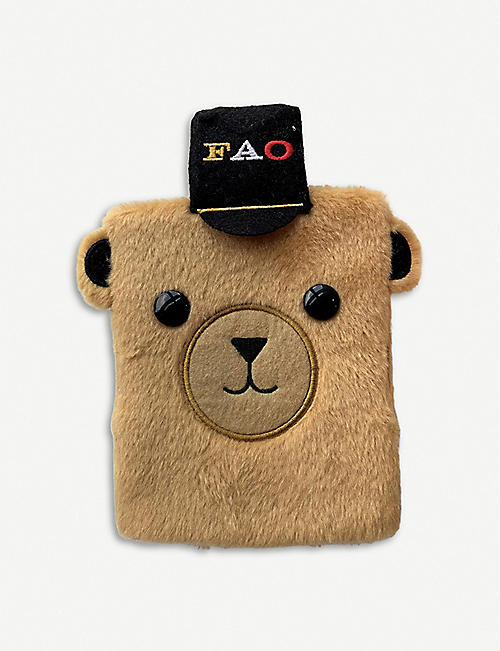 FAO SOUVENIRS Teddy bear plush notebook