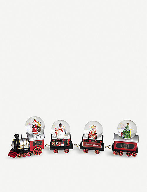 FAO CHRISTMAS Christmas locomotive snow globe set of four
