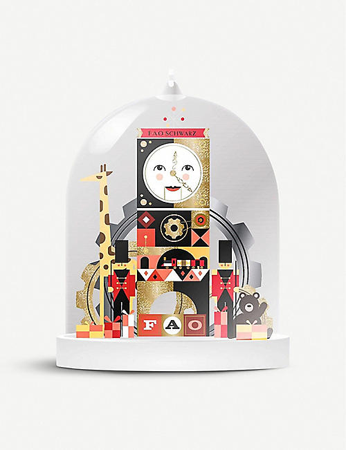 FAO CHRISTMAS: Cloche clock glass ornament 13cm