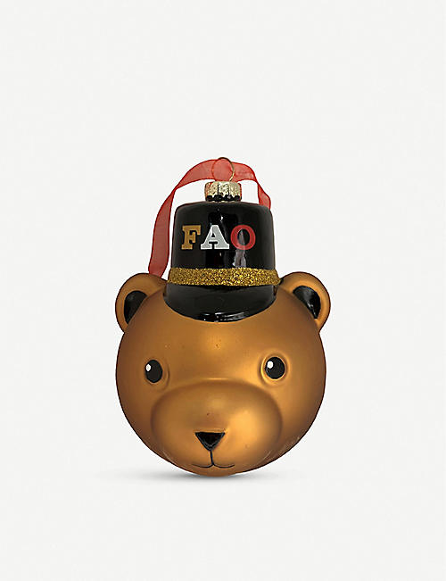 FAO CHRISTMAS Soldier bear glass decoration