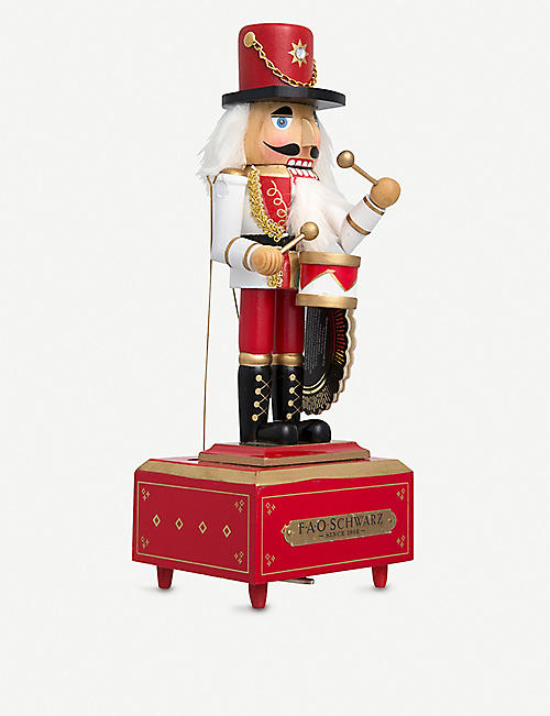FAO CHRISTMAS Musical wooden nutcracker 30.48cm