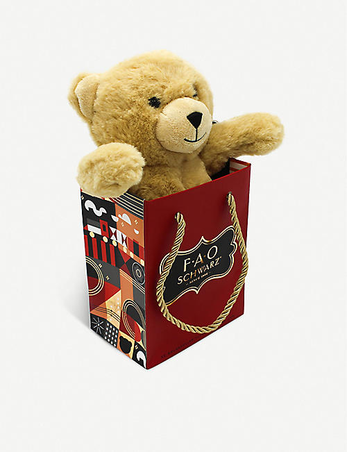 FAO PLUSH FAO Bear in a Bag 17.7cm