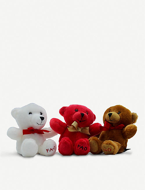 FAO PLUSH Mini teddy bears pack of three