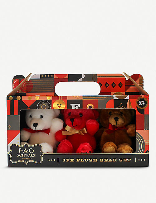 FAO PLUSH: Mini teddy bears pack of three