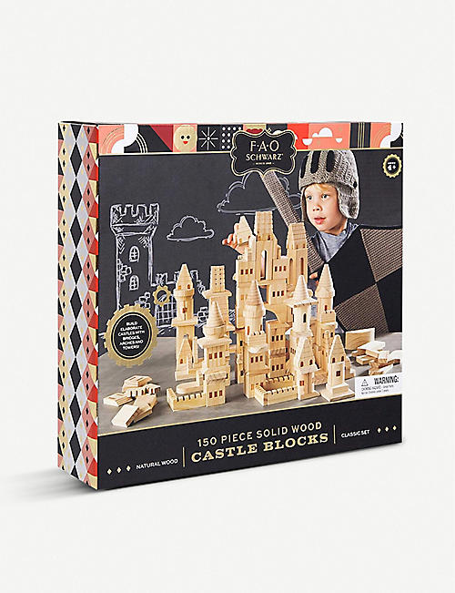FAO SCHWARZ Castle wooden building blocks 150 pieces