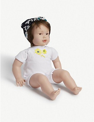 MY F.A.O DOLL: Floral-print sleeping bag and brown-eyed doll 31.75cm