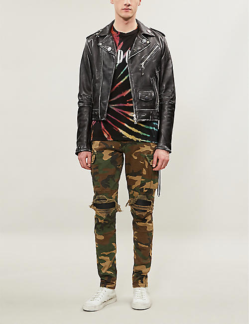 AMIRI Camouflage-print regular-fit tapered stretch-cotton twill trousers