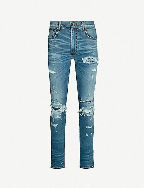 b82092aecc69e0 AMIRI Super Repair slim-fit skinny jeans