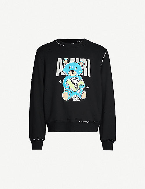 bbc0b9b69711fd AMIRI Teddy Repair cotton-jersey sweatshirt