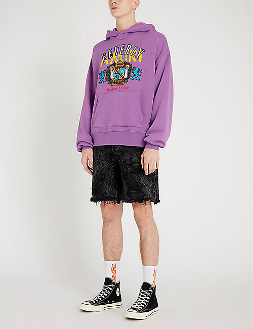 AMIRI Beverly Hills printed cotton-jersey hoody