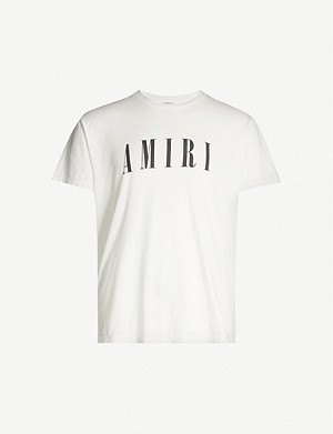 AMIRI Logo-print regular-fit cotton-jersey T-shirt