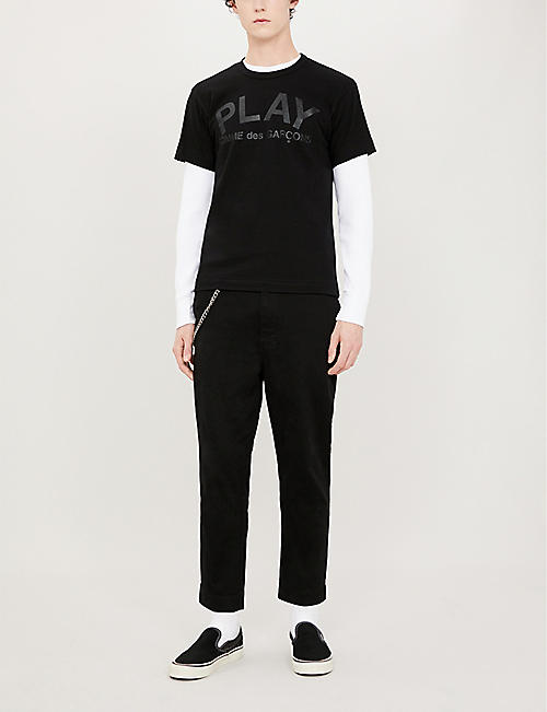COMME DES GARCONS PLAY Reverse logo-print cotton-jersey T-shirt