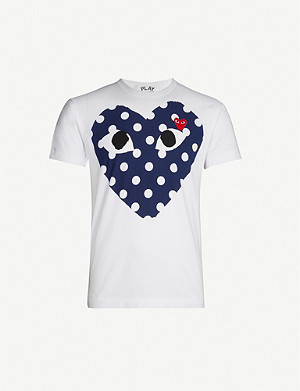 COMME DES GARCONS PLAY Heart-print cotton-jersey T-shirt