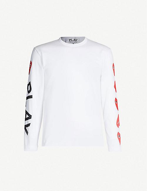 3d5b3c71d88b COMME DES GARCONS PLAY Logo-print cotton-jersey top