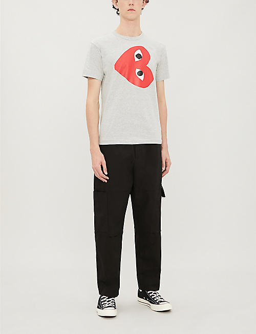 COMME DES GARCONS PLAY Logo-print cotton-jersey T-shirt