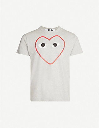 COMME DES GARCONS PLAY: CDG EMPTY HEART TEE