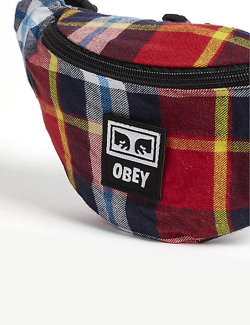 OBEY Wasted plaid belt bag