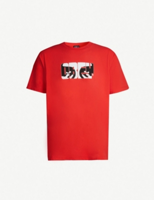 OBEY Eyes cotton-jersey T-shirt